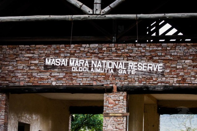 Masai Mara National Reserve entrance gate