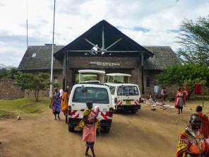 Masai women selling their art work