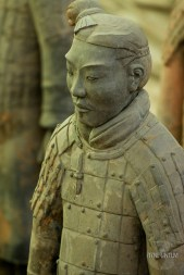 A portret of a terracotta soldier in Xian