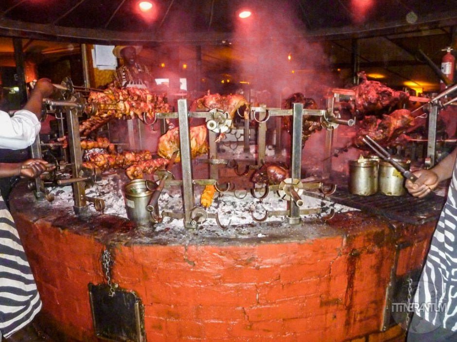 Carnivore Restaurant huge grill