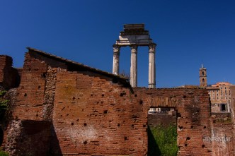 ruins in The Roman Forum in Rome