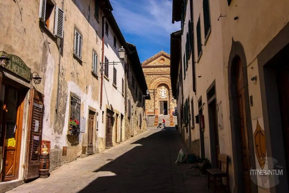 Small street in Panzano Chianti