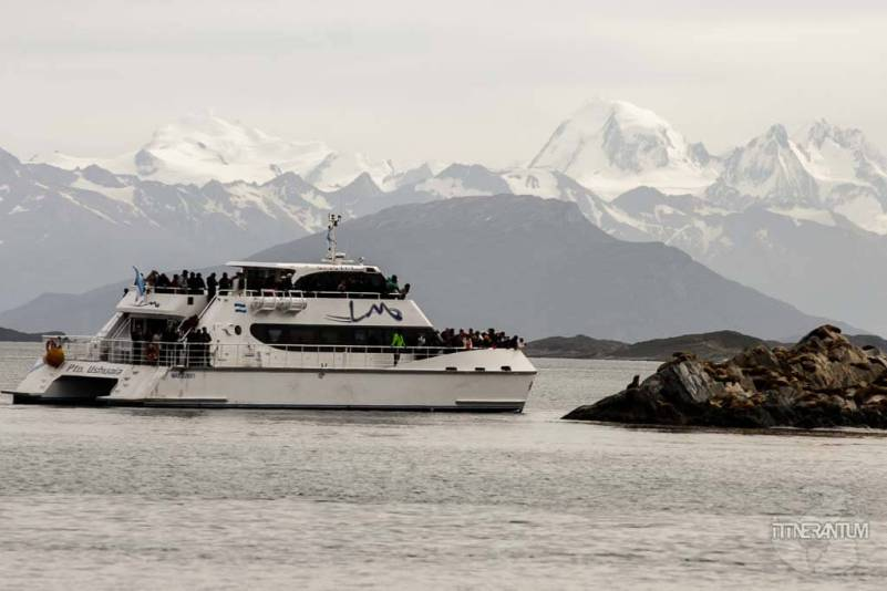 The catamaran taking cruises on Beagle Channel