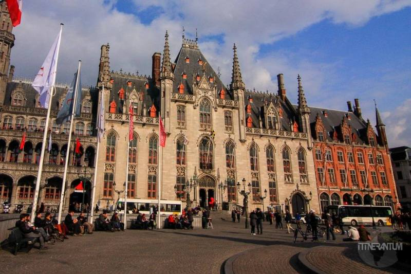 Provincial Court on Market Square of Bruges
