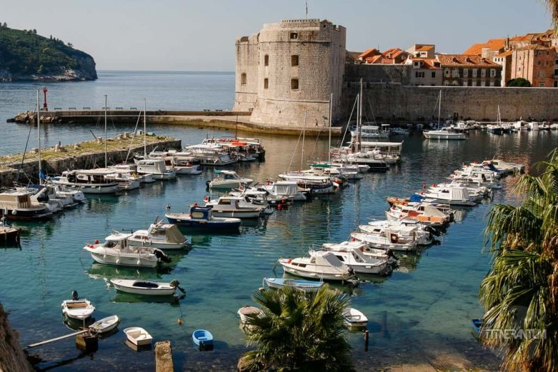 The harbor in Dubrovnik Croatia