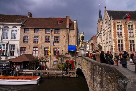 view from Bruges