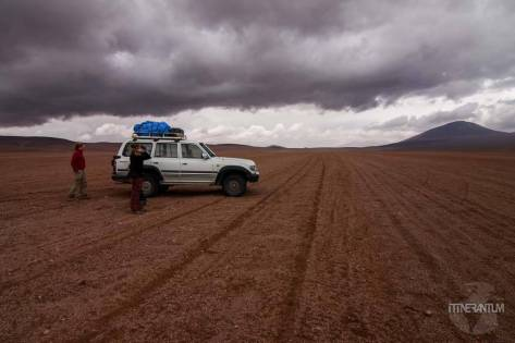our car in the salar, bolivia
