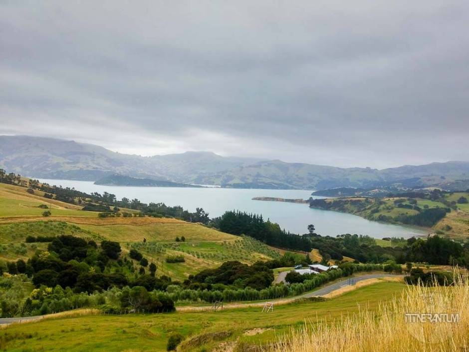 View over Akaroa Harbor, New Zealand
