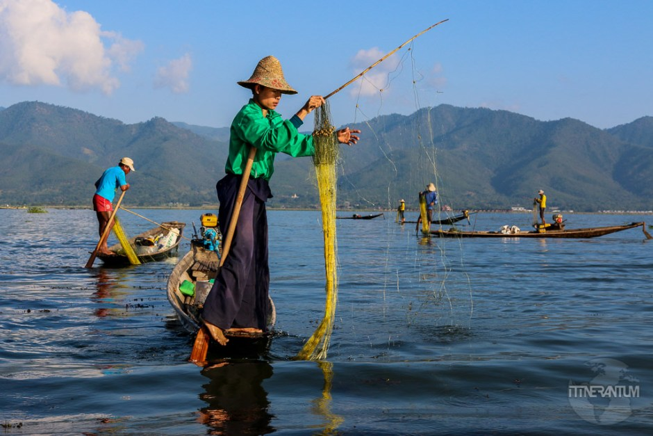 Local fishermen on Inle Lakem people of myanmar
