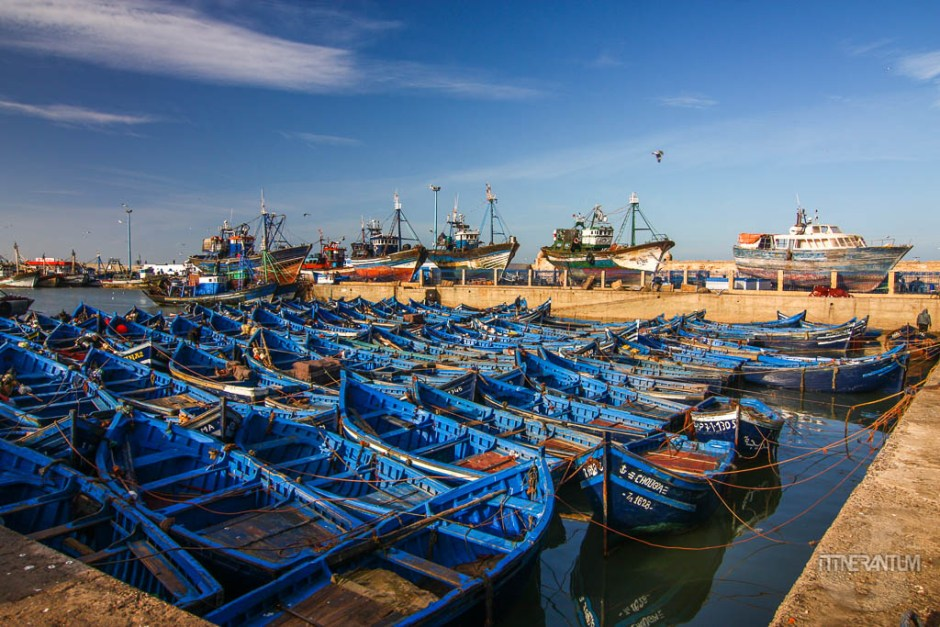 fishing boats at essaouira harbor, morocco itinerary