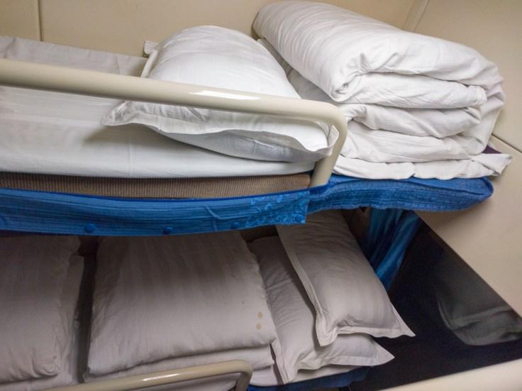 Bett im Nachtzug nach Lhasa