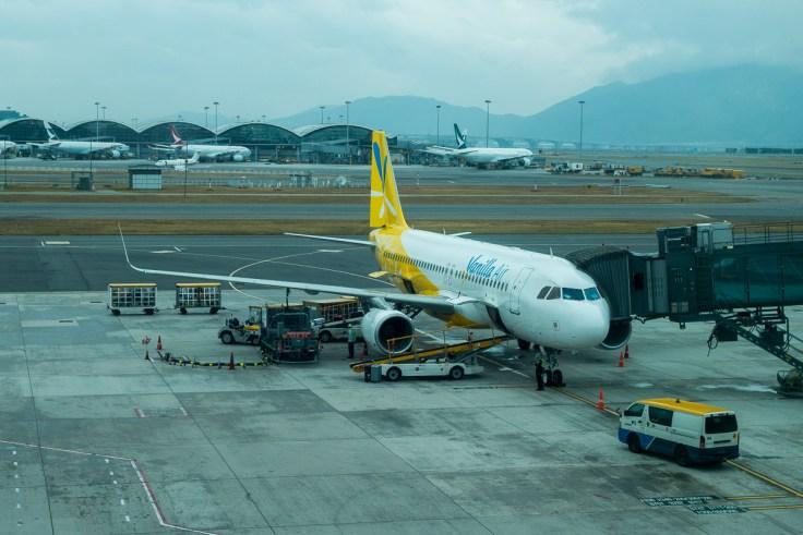 Dieses Flugzeug wollte und wollte einfach nicht starten in Hong Kong