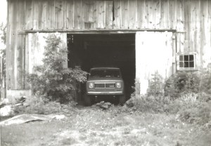1974 Scout in the barn.