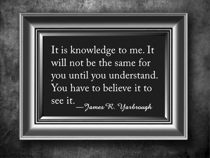 It Is Knowledge to Me 1-26-16