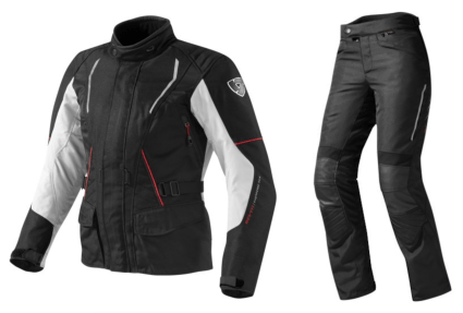 Rev'It black Monroe Jacket and Factor 3 trousers for women