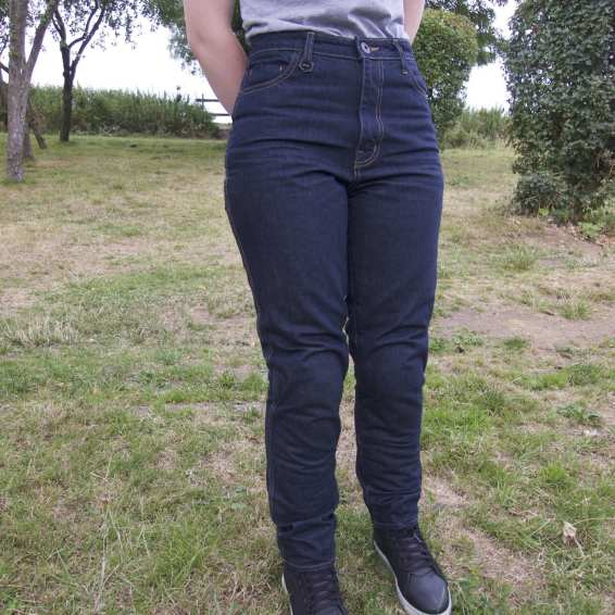 Natalia wearing her Knox jeans and her Black TCX Street Ace Boots