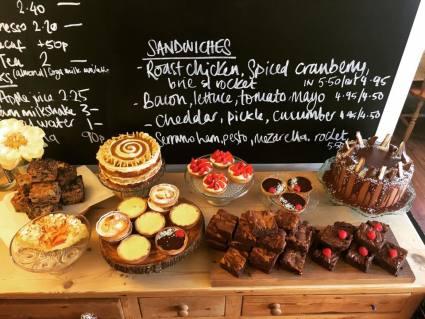 Cakes on offer at The Linton Kitchen