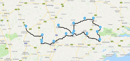 Saffron Walden part 2 route