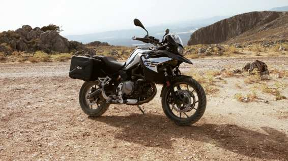 BMW F750GS with panniers