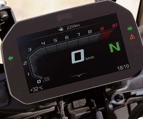 BMW F750GS new TFT display