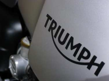 Triumph in Bike Shed motorcycle parking