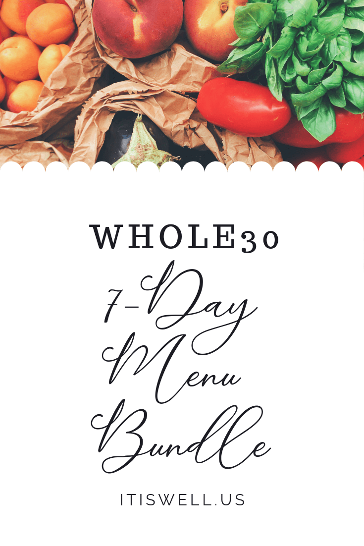 #Whole30 7-Day Menu Bundle