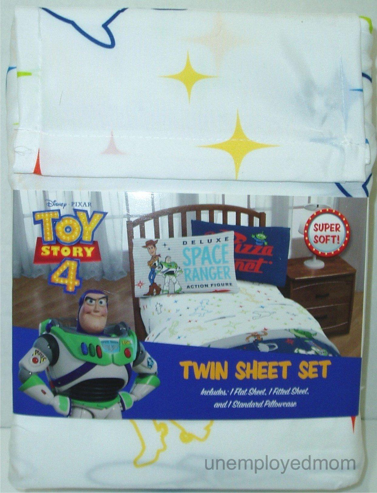 toy story 4 twin sheet set 3 piece boys