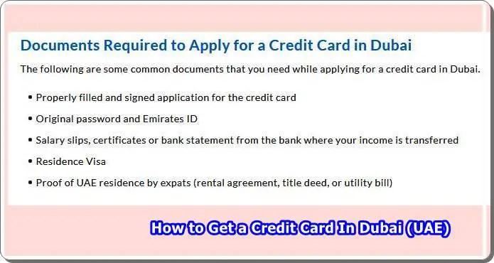 Uae credit card