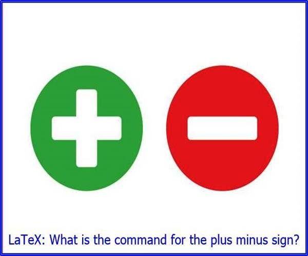 LaTeX command plus minus sign