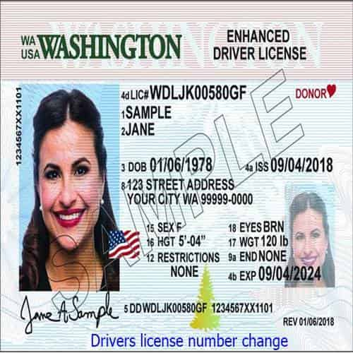 Drivers license number change