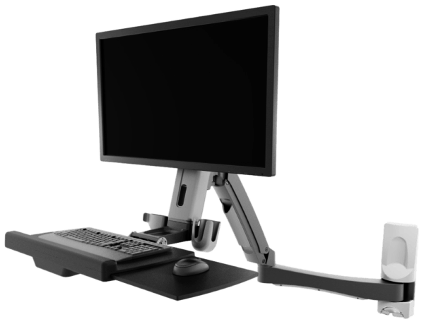 Atdec wall mounted sit-to-stand desk product image