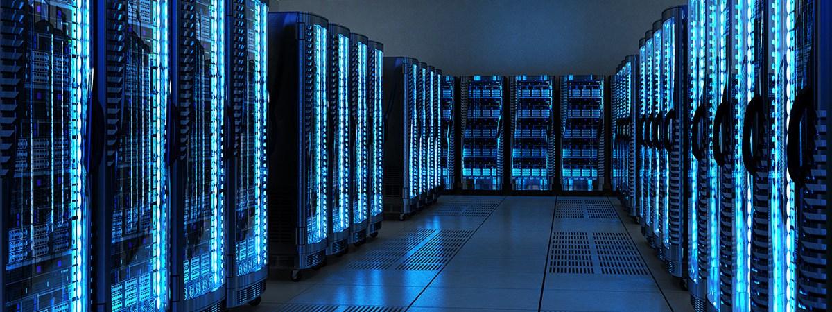 Server racks in data center