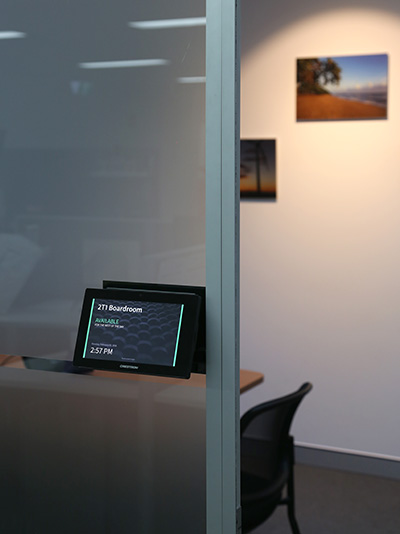 Crestron TSW760 boardroom entry