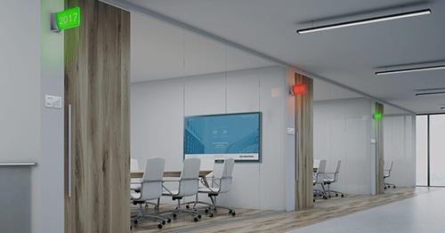 Crestron meetingroom signs
