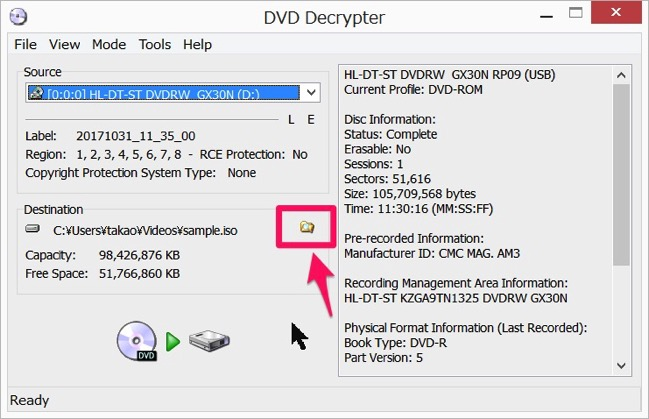Img DVD Decrypter dvd copy 02