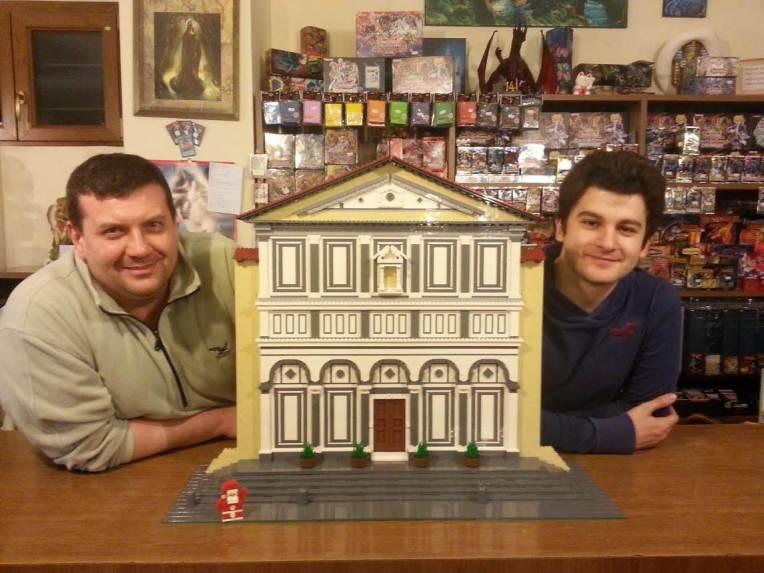 Da Sinistra: Enrico Vannucchi, Collegiata di Sant'Andrea e Nico Mascagni. Foto di Gianluca Cannalire.