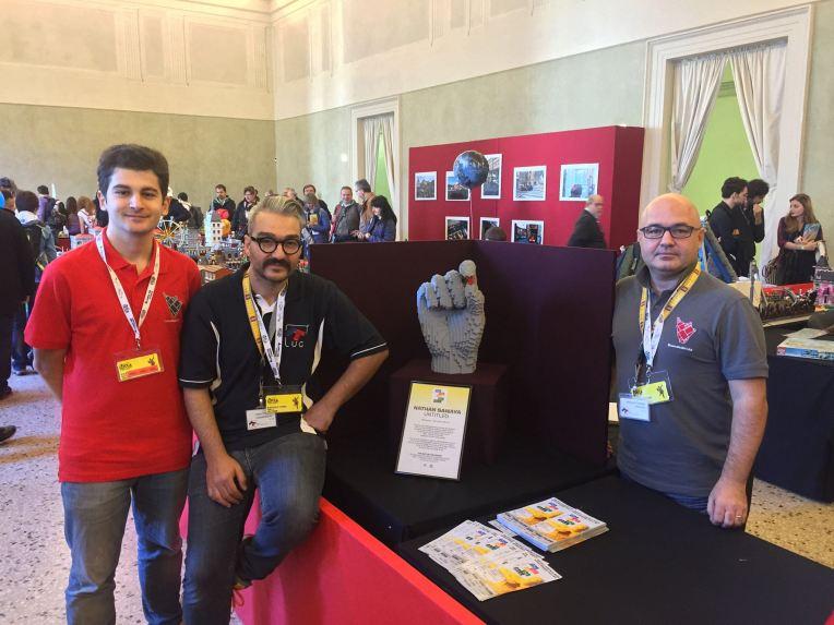 L'opera esposta durante Lucca Comics & Games 2015, con Nico, Fabio e Gianluca