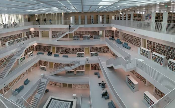 The Stadtbibliothek: Perfect for playing hide and seek