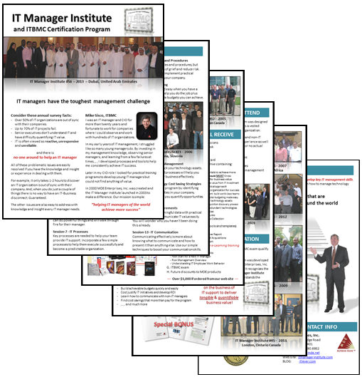 IT Manager Institute Brochure