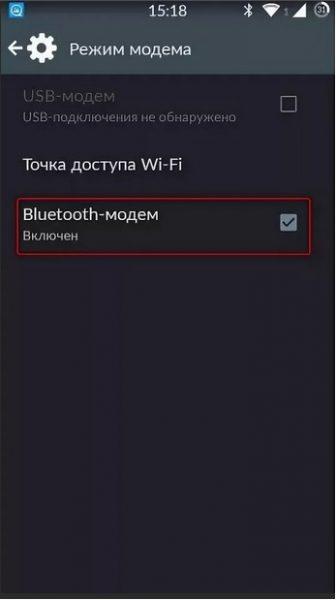 MODEM modunda çalışmak için son sahne ayar smartphone