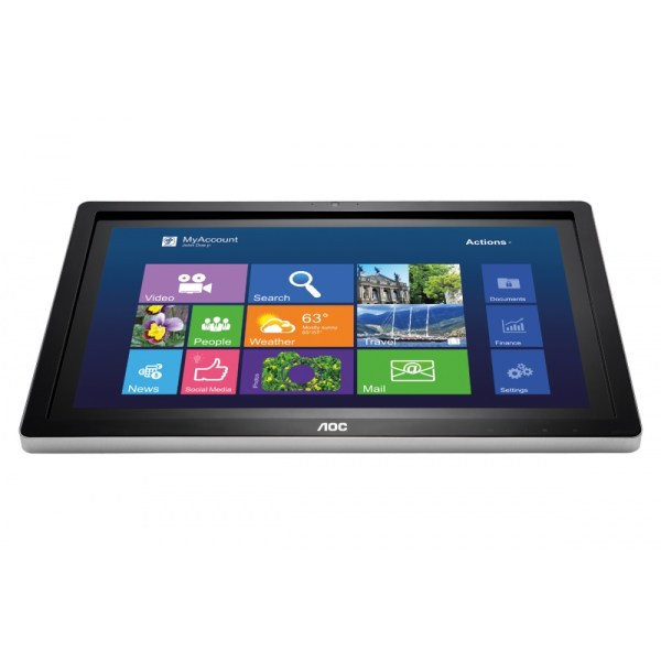 "23.6"" AOC Touch-Screen Monitor I2472PWHUT - Front"
