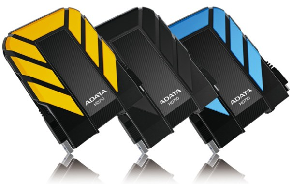 Adata HD710 - Yellow, Black and Blue