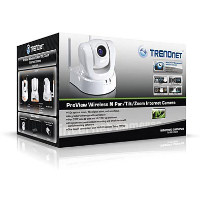 TRENDnet TV-IP612WN Hi Res Wireless PTZ Camera - Boxed