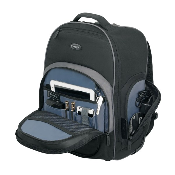 Targus TSB750AP Compact Rolling Backpack - Front Pouch