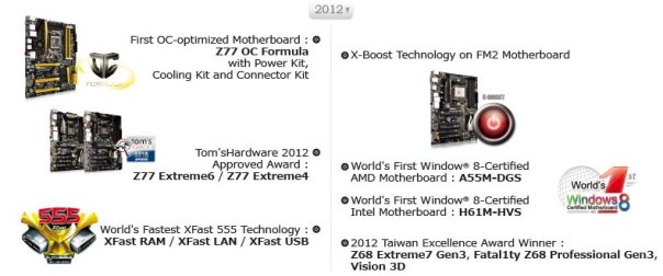 ASRock Industrial Awards - 2012