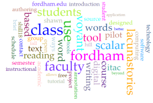 A Word Cloud generated by Voyant