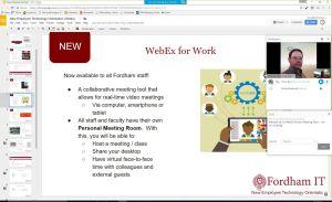 WebEx meeting in progress
