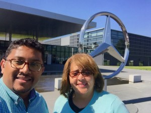 Sujith and Joyce at Mercedes-Benz.