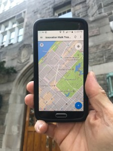 Fulcrum mobile app against Fordham background