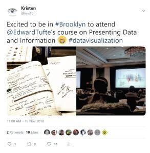 image of Kristen's tweet